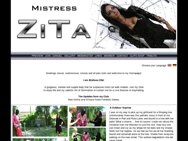 Login Mistress-zita.com